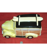 RARE Cookie Jar Of 1930's Studebaker Woodie Panel Wagon Truck Car w Surf... - $98.98