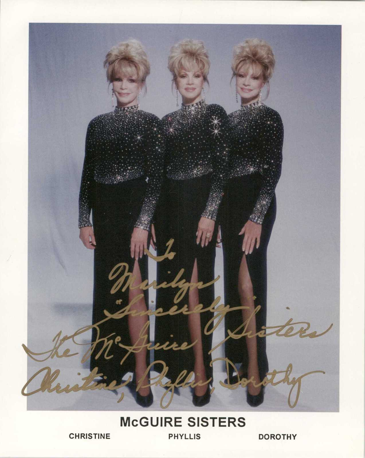 Primary image for The McGuire Sisters Signed Autographed Glossy 8x10 Photo