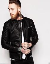 Men's Genuine Lambskin Leather Motorcycle Slim fit Biker Jacket S M L XL XXL - $64.34+