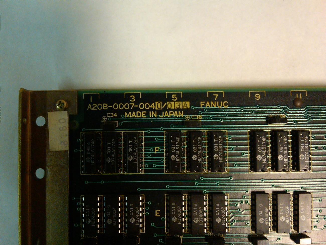 Fanuc 6M/T control I/O Relay PC Board A20B-0007-0040