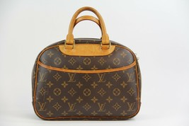 Authentic LOUIS VUITTON Monogram Canvas Trouville Handbag M42228 (Pre Ow... - $620.00