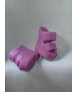 Barbie doll shoes purple clogs fashion footwear - $8.99