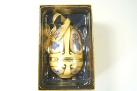 """Mr. Christmas Egg Shaped Ornament Plays """"Angels Realms Of Glory"""" When Opened - $22.20"""