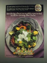 1991 Kraft Free Blue Cheese Dressing Ad - a flavor you wouldn't expect - $14.99