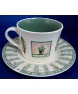 Cup And Saucer Pfatzgraff USA Naturewood Breakfast Size Stoneware Botani... - $26.00