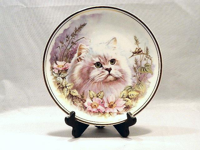 Primary image for Royal Kent Bone China Plate with Kitty and Cricket - Beautiful, Artist Signed!