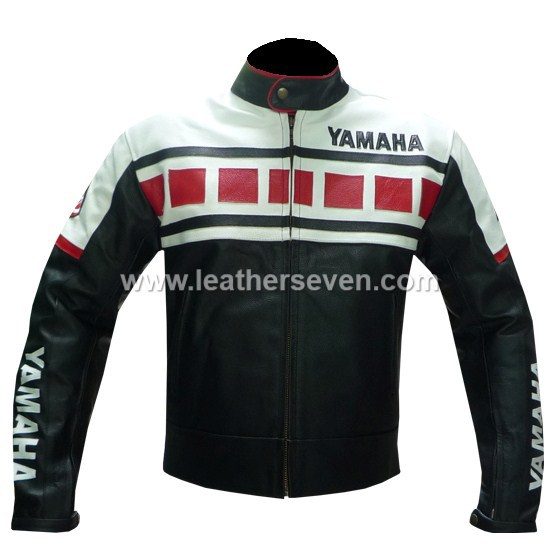 Used, MEN MENS YAMAHA BLACK 6728 COWHIDE LEATHER MOTORCYCLE MOTORBIKE BIKER JACKET for sale  USA