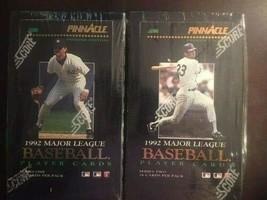 1992 Original Pinnacle Baseball Trading Cards Boxes ~ 2 Wax Box Lot (Ser... - $65.99