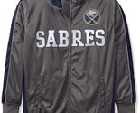 NHL Buffalo Sabres Men's Big Tall Full Zip Tricot Reflective Track Jacket - $33.20