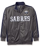 NHL Buffalo Sabres Men's Big Tall Full Zip Tricot Reflective Track Jacket - $34.95