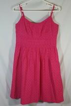 Ann Taylor Pink Cami Petite Dress Spaghetti Strap Pullover Sundress Wome... - $18.80