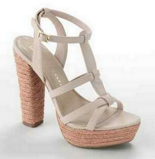 Primary image for Lauren Conrad LC Blush Wedge Platform High Heel Sandal Shoes Josephine
