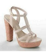 Lauren Conrad LC Blush Wedge Platform High Heel Sandal Shoes Josephine - $49.99