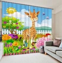 3D Deer Kid 421 Blockout Photo Curtain Printing Curtains Drapes Fabric Window UK - $145.49+