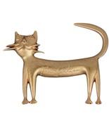 JEAN COCTEAU MADELINE FLAMMARION Vintage 1997 Gold Metal CAT BROOCH Pin - $376.20