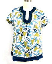 Womens Printed Blouse Charter Club Linen Pullover Summer  L Casual - $11.34