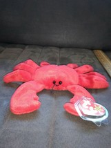 "Ty Beanie Baby Digger the Crab (red version) Plush 8"" Toy 1993 - $19.99"