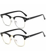 Blue Light Blocking Glasses for Women Men Half/Square Frame Anti Eyestra... - $22.94 CAD