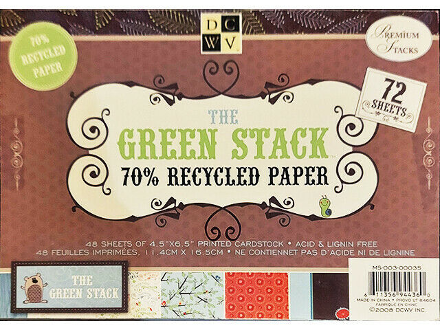 """DCWV The Green Matstack, 72 Sheets, 6.5"""" x 4.5"""" #MS-003-00035"""