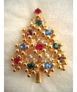EISENBERG ICE CHRISTMAS TREE BROOCH  BRIGHT AND COLORFUL - $29.99