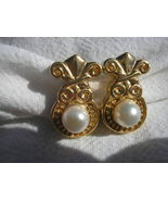14kt Gold Drop Pearl Earrings NEW from 5th AVE NY store approx retail $1050 - $430.88
