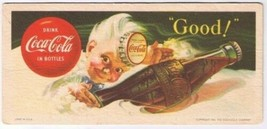 Coca Cola Ink Blotter 1953 Retro Good Drink Coca Cola in Bottles USA - $18.99