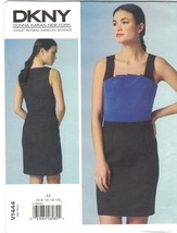 Vogue 1444 DKNY Donna Karan Pleated Fan Front Dress Pattern Choose Size ... - $14.99
