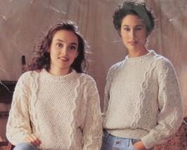 Emu DK or ARAN Knitting Patterns ADULTS LADIES Pullover SWEATER Bust 28 - 42  - $5.95