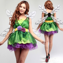 Green Forest Fairy Dress Christmas Halloween Party Cosplay Costume - $37.99