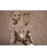 Wholesale LOT Of 3 NEW African style Necklace and Earrings NEW  Great buy - $41.18