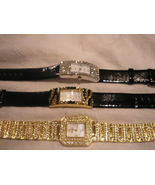 Wholesale lot 3 Crystal watches New ret $450 Yours for LESS and Stunning - $89.63