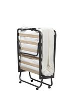Twin Size Rollaway Guest Bed Folding Roll Away Cot w Memory Foam Mattres... - $195.99