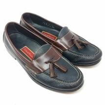 Cole Haan Mens Tassel Loafers Shoes Black Slip-On Moc Toe 9.5 D - $32.87