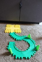 Lot Little Tikes Waffle Blocks Building Road pieces primary colors 4-way... - $29.95