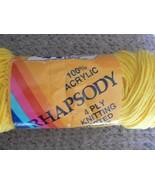 National yarn crafts rhapsody 1 skein 4 oz bright yellow color (1 availa... - $1.49