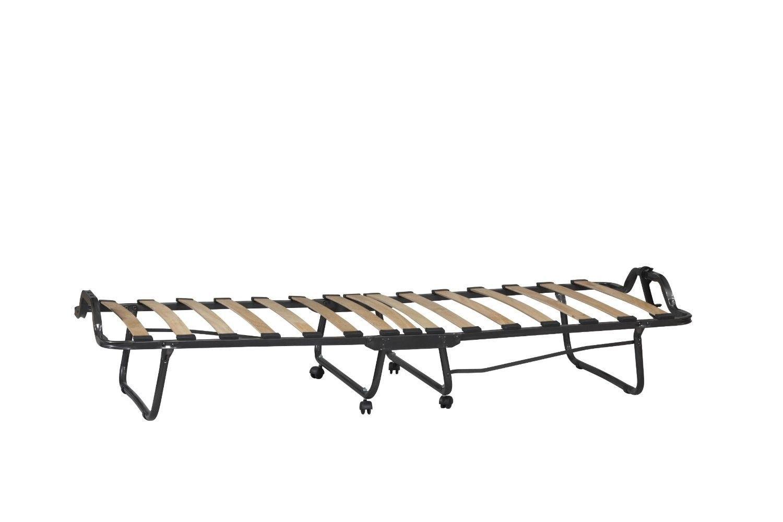 Twin Size Rollaway Guest Bed Folding Roll Away Cot w ...