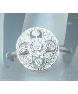 Antique Style 0.23ct Diamond Pave Circle Halo R... - $788.88