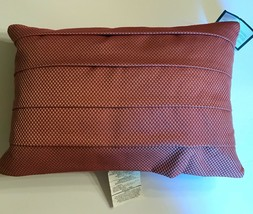 Pillow Waverly Harbor House Red Gold Basket Weave Feather Luxurious - $26.72