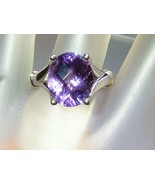 Oval 4.50ct Amethyst Solitaire Ring Sterling Si... - $118.88