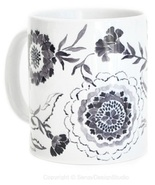 Ceramic Coffee Mug, Floral, 11 Oz. Tea Cup. - $15.00+