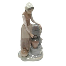 NAO by Lladro Girl with Pitcher at Fountain - $90.00