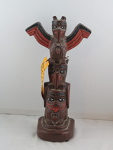Vintage Totem Pole - 3 Totems by Shaman's - Ceramic Made in Canada - $65.00