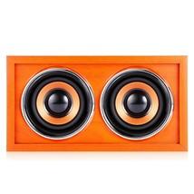 F4 BT 4.2 Bluetooth Speaker Nature Wood(ORANGE) - $28.22