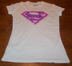 Women's Teen Dc Comics Super Pink Purple T-shirt Large New Wonder Woman Superman - $19.80