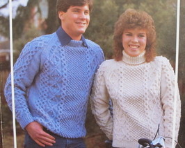 Vintage IRISH Knitting Patterns ADULTS Pullover SWEATERS Sizes 34 - 44  - $5.95