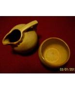 Frankoma Desert Gold Mini Cream 553 and Sugar 504 - $16.00