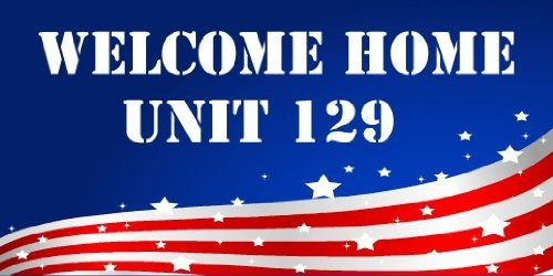 3x6 Vinyl Banner - Welcome Home Army Unit