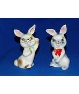 Bunny Rabbit Cute Vintage Salt & Pepper Shakers - $14.99