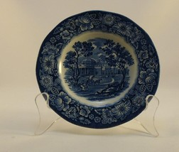 """Staffordshire Liberty Blue 5 3/4"""" Saucer Monticello Floral Band - $5.99"""