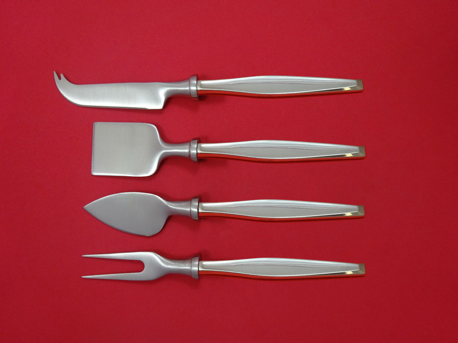 Classique by Gorham Sterling Silver Cheese Serving Set 4 Piece HHWS  Custom - $289.00